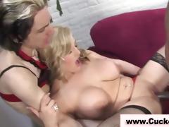 stockings blond fetish hottie receives screwed
