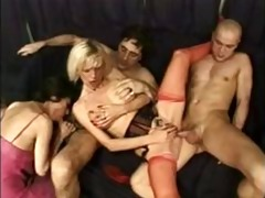 6 naughty french grannies and 10 boyz