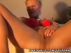 non-professional mother i masturbates, sucks and