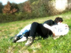 natural italian love on the grass