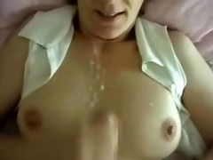 sexually excited wife intimate spunk flow on love