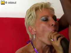 hawt white mamma in an interracial orgy