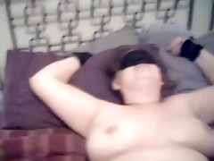 sharons st time with a sex toy blindfolded and