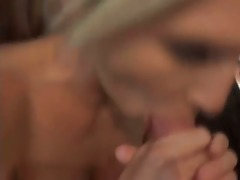 sexually excited jolene is sucking threesome