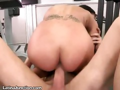 latin babe receives her constricted love tunnel