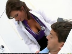 big tit dark brown milf pornstar doctor bonks her