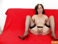 tease and cougar solo with a beautiful older