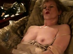 old lady, nylons &; sex toy (masturbation)