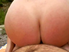 fucking and anal sex from behind in nature