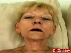 nasty blond granny so wet