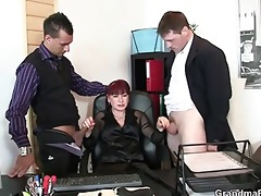 office whore swallows ramrods
