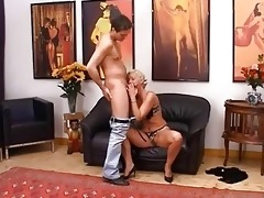 golden-haired aged having love tunnel fisted hard