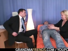 golden-haired grandma receives slammed by dongs