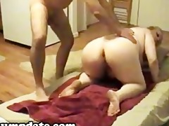 corpulent wife gets her arse slammed