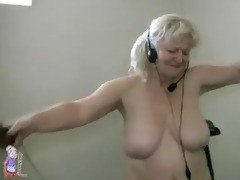 chunky granny working out