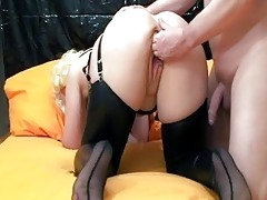 fisting the wifes gaping pussy untill she is