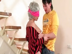 amazing golden-haired mamma with blindfold part2