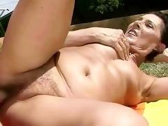 juvenile chap bonks hot granny outdoor
