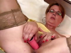 he is finds her masturbating and offers his dong