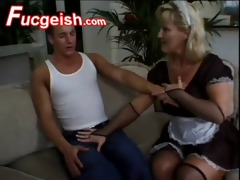 aged doxy tara in maid costume acquires screwed