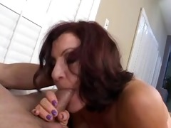 hot mature brunette hair hair masterfully sucks
