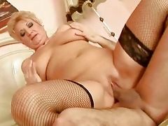 chubby grandma enjoys hard fucking