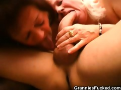 experienced mature chicks double teaming