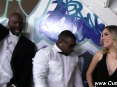 interracial hawt blondie sucks group rods
