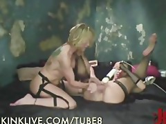 horny milfs belt up and fuck
