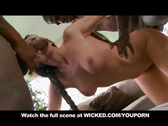 older dark brown mamma orgasms during threesome