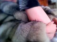 full 8h vanessa in furs &; heels and dark toy