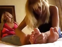 lesbian aged foot tickle/worship