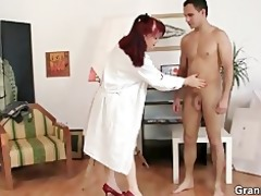 she is enjoys riding his young meat