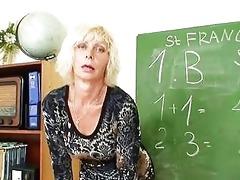 lustful matured blonde teacher in nylons fingers
