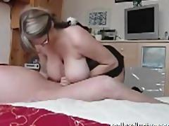 great handjob from my breasty wife