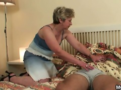 shlong hungry mother-in-law seduces him
