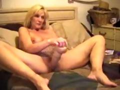 old doxy stuffs heavy marital-device in pussy