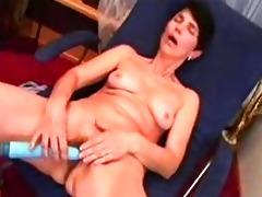 granny testing her fresh sex toy
