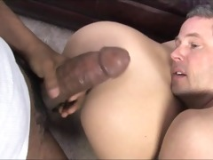 giant dark ramrod bonks white wife during the
