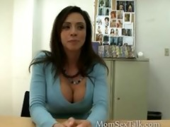 older brunette sells her body to large dong porn