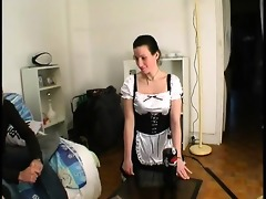 lea in maid uniform gets screwed