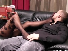 grace milf stockinged feet smelling and dong