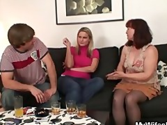she is is watching him fucking her mama