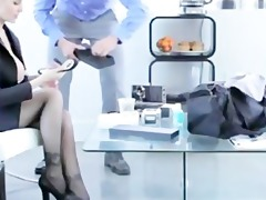 hawt blond milf uses sex toy then chap comes to
