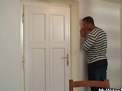 granny jumps on son in laws shlong