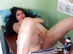 charming aged latin chick receives her muff bald