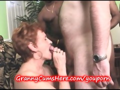 granny sucks weenie at the swingers party