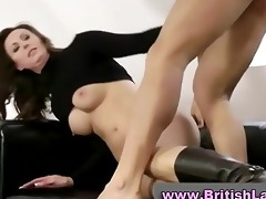 aged british lady in boots screwed and jizzed