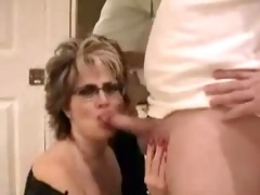 mature wife with large love bubbles facial
