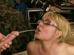 old stud fucking and pissing on older woman